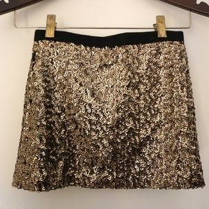 Milly Minis Girls Gold Sequin Straight Party Stret